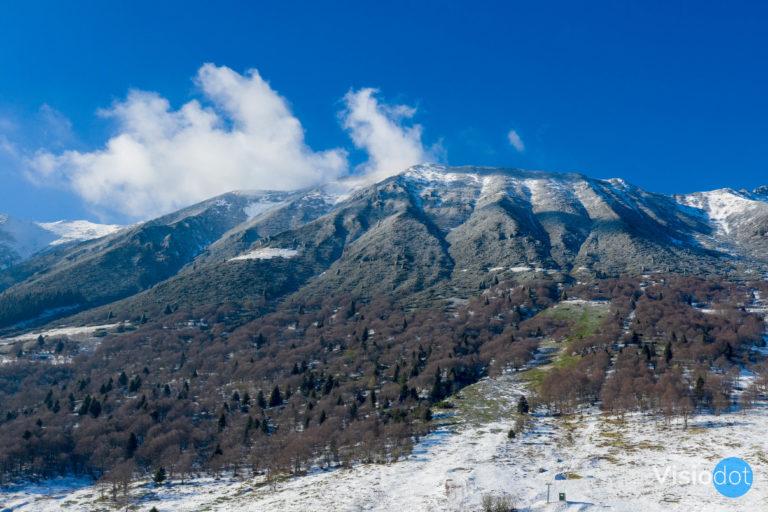 montagna molto alta monte baldo inverno
